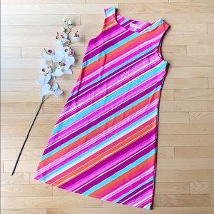 JUDE CONNALLY dress size Medium pink blue stripes